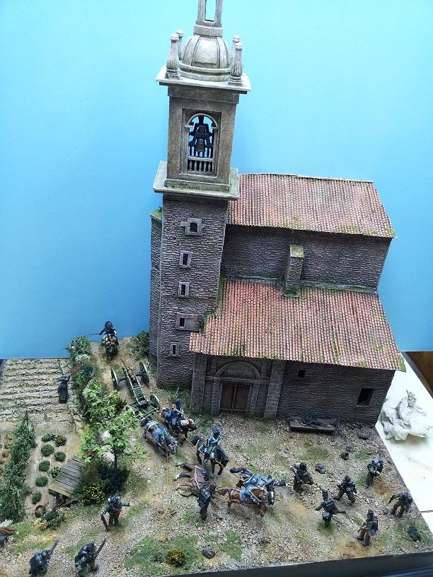 Diorama asalto al tren de artilleria en Ariñez