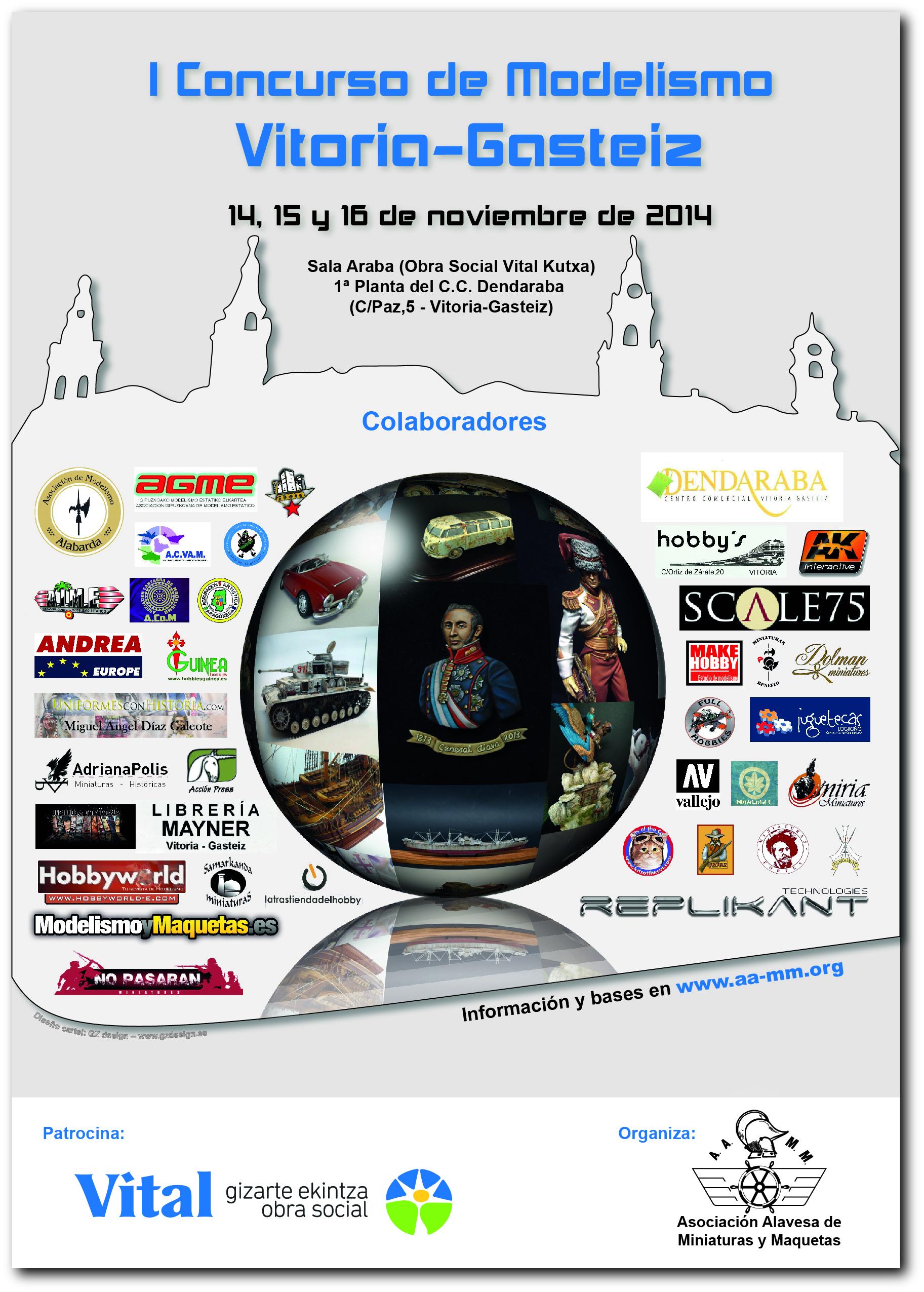 Cartel I Concurso de Modelismo Vitoria-Gasteiz