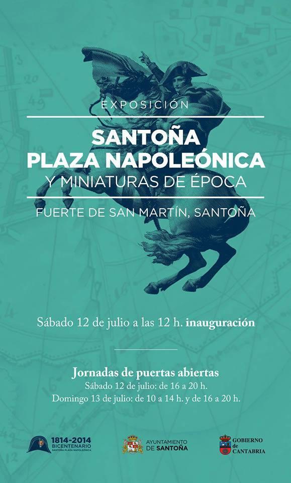 Cartel Santoña Plaza Napoleónica y Miniaturas de época