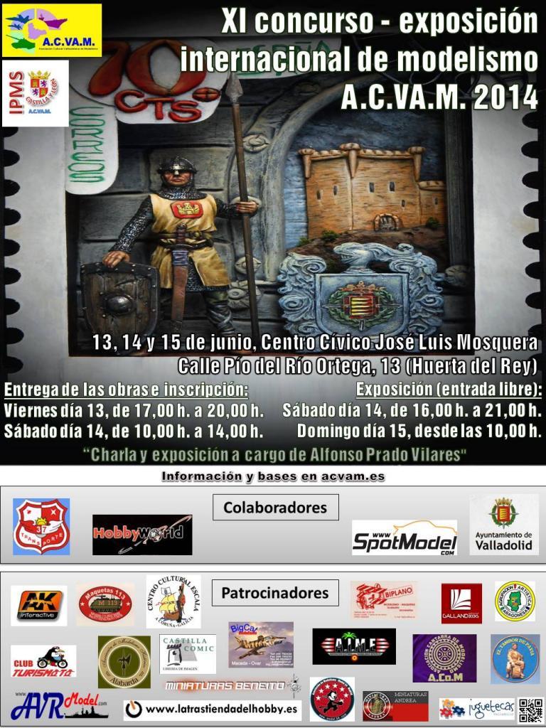 Cartel XI Concurso-Exposición Modelismo Valladolid 2014